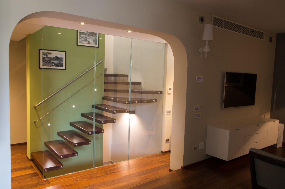 Progettazione Parquet e Scale Villa Melide 05