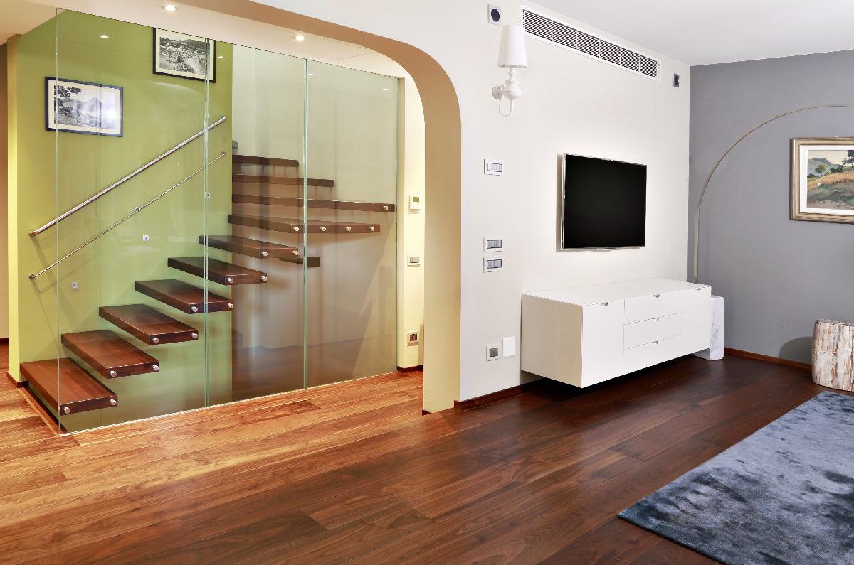 Progettazione Parquet e Scale Villa Melide 07