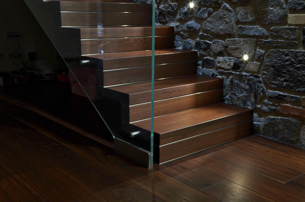 Progettazione Parquet e Scale Villa Melide 09